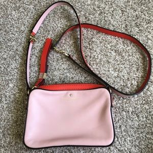 Kate Spade Pink Coral Leather Crossbody